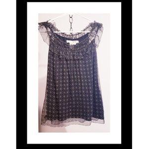 Studio M black sheer overlay sleevless top